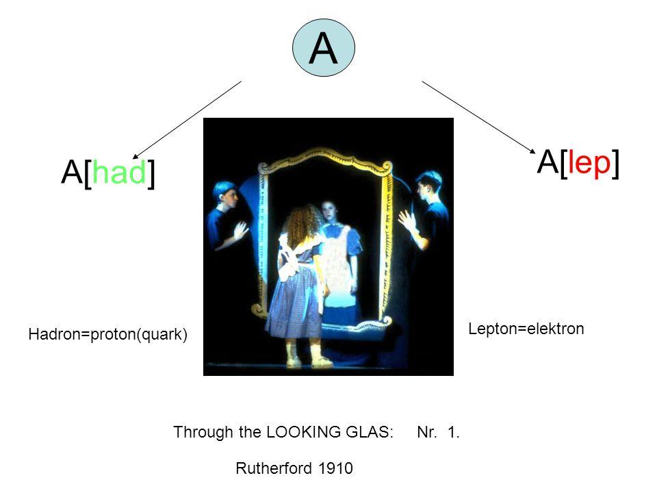 A A[lep] A[had] Lepton=elektron Hadron=proton(quark)